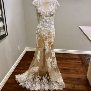 Terani Couture Nude Gown